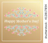 happy mothers day hand drawing... | Shutterstock .eps vector #412817854