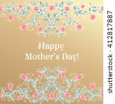 happy mothers day hand drawing... | Shutterstock .eps vector #412817887