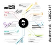 minimalist cv  resume template... | Shutterstock .eps vector #412822669