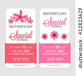 sale web banners  special offer ... | Shutterstock .eps vector #412823629