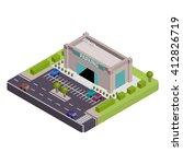 isometric parking vector... | Shutterstock .eps vector #412826719