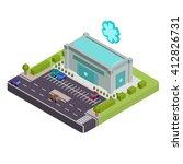isometric pharmacy vector... | Shutterstock .eps vector #412826731