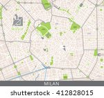 vector color map of milan ... | Shutterstock .eps vector #412828015