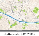 vector color map of florence ... | Shutterstock .eps vector #412828045