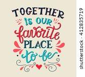 retro hand lettering typography ... | Shutterstock . vector #412835719