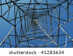 tall steel hydro electric... | Shutterstock . vector #41283634