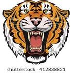 tiger face | Shutterstock .eps vector #412838821