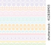 background with colorful lace... | Shutterstock .eps vector #412838905