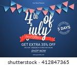 sale poster  sale banner  sale... | Shutterstock .eps vector #412847365