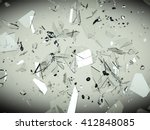 splitted or cracked glass... | Shutterstock . vector #412848085