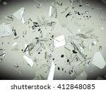 splitted or cracked glass... | Shutterstock . vector #412848085