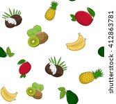 seamless pattern of fresh ripe... | Shutterstock . vector #412863781