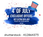 4th of july exclusive offers... | Shutterstock .eps vector #412864375
