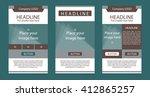newsletter corporate vector...   Shutterstock .eps vector #412865257