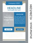 flyer corporate vector layout... | Shutterstock .eps vector #412865284