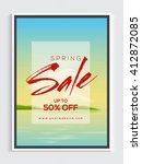 spring sale flyer  sale banner  ... | Shutterstock .eps vector #412872085