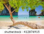 tropical beach scenery  andaman ... | Shutterstock . vector #412876915