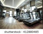 fitness club in luxury hotel... | Shutterstock . vector #412880485