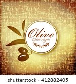 olive branch label with the...   Shutterstock .eps vector #412882405