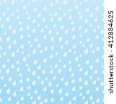 blue pattern with raindrops. | Shutterstock .eps vector #412884625