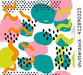 memphis abstract seamless... | Shutterstock .eps vector #412890325
