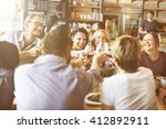 dinner dining wine cheers party ... | Shutterstock . vector #412892911