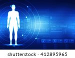 male in anatomical position in... | Shutterstock . vector #412895965