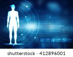 male in anatomical position in... | Shutterstock . vector #412896001