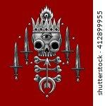 heraldry illustration with... | Shutterstock . vector #412899955