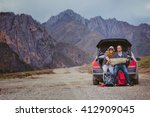 tourists with a map and... | Shutterstock . vector #412909045