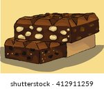 chocolate hand drawn | Shutterstock .eps vector #412911259