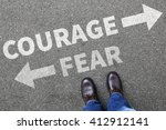 Small photo of Courage and fear risk safety future strength strong business man concept businessman finances