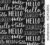 hand lettering seamless pattern.... | Shutterstock .eps vector #412913041
