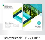blue and green brochure ... | Shutterstock .eps vector #412914844