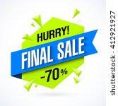 final sale poster  banner. big...   Shutterstock .eps vector #412921927