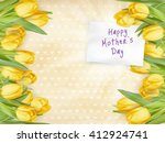 beautifully textured card with... | Shutterstock .eps vector #412924741