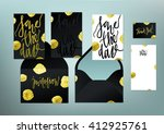 tony glittering gold textured... | Shutterstock .eps vector #412925761
