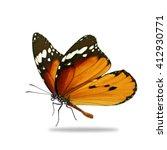beautiful orange monarch... | Shutterstock . vector #412930771