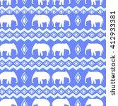 boho style pattern  elephant... | Shutterstock .eps vector #412933381