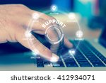 support technology... | Shutterstock . vector #412934071