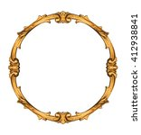 Vintage Circle Frame Isolated...