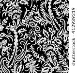 seamless floral and paisley... | Shutterstock .eps vector #412939219