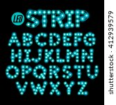 led ribbon strip light alphabet ... | Shutterstock .eps vector #412939579