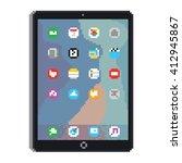 pixel art style tablet gadget... | Shutterstock .eps vector #412945867
