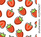 seamless pattern with red... | Shutterstock .eps vector #412956367