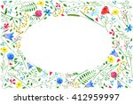 greeting card with meadow... | Shutterstock . vector #412959997