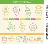 vector fruit and vegetable...   Shutterstock .eps vector #412964461
