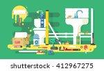 repair of bathroom | Shutterstock .eps vector #412967275