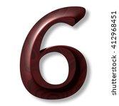 3d Rendering Number With Drop...