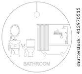 bathroom interior. raster... | Shutterstock . vector #412970515